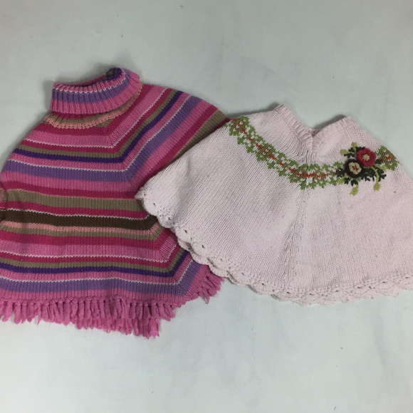 The Children's Place Other - Girl Poncho CHILDRENS PLACE OLD NAVY Sz 3T 4T